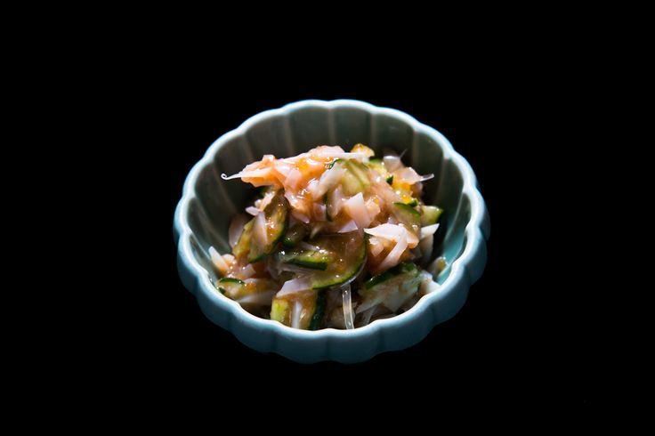 梅なんこつ(ヤゲンとサメの軟骨の梅あえ) ¥550