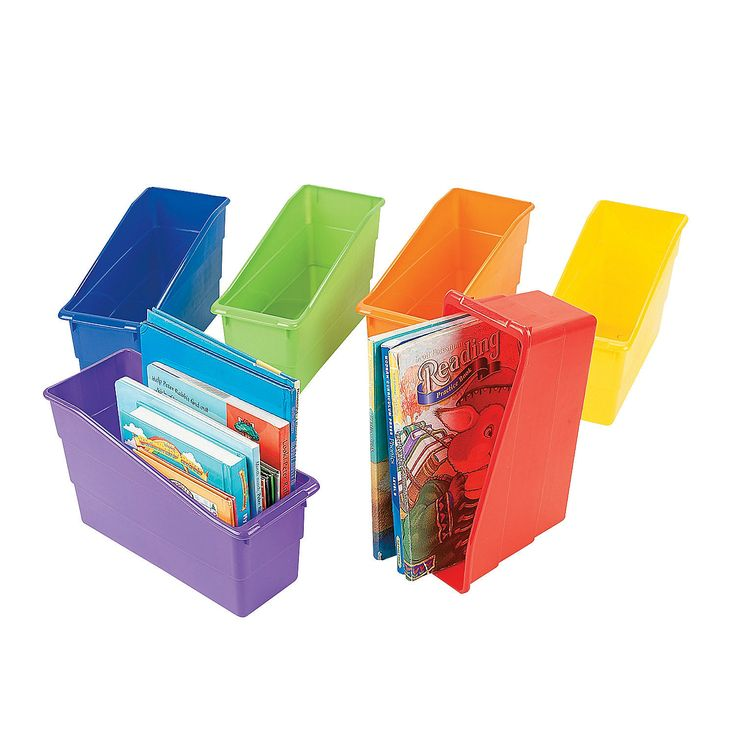 Classroom Organizer Book Storage Bins - OrientalTrading.com