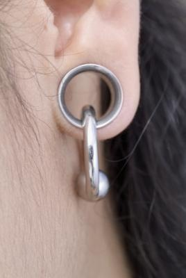 A little too large of a  stretch for my taste but I love the dangly with the stretched ear.