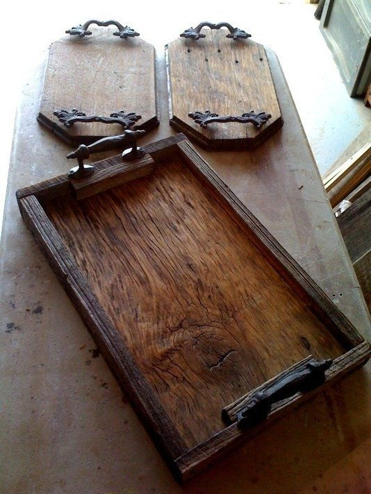 Custom Made Barnwood Trays, great for all types of events.
