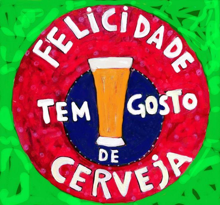Felicidade tem gosto de cerveja!