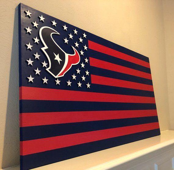 Houston Texans, Texans Flag, Wood Flag, Houston Texas, Bulls on Parade, Gifts for Him