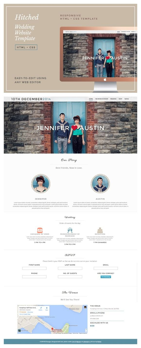 Hitched Wedding Website Template by Design Co. on @creativework247