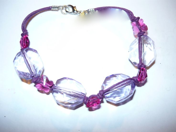 #Bracelet with pink #butterflies - sold