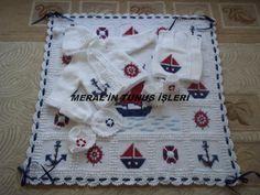 Tunus işi bebek takımı