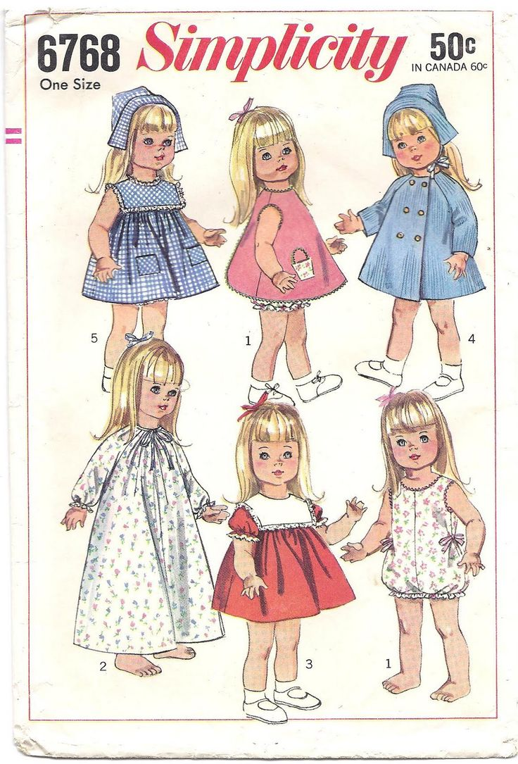 59 best doll dresses and more images on pinterest doll patterns free printable doll clothes patterns found this pattern for doll clothes at an antique mall jeuxipadfo Images