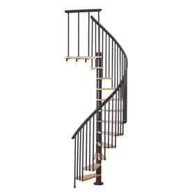 Best Dolle Calgary 55 In X 9 2 Ft Black Spiral Staircase Kit 400 x 300