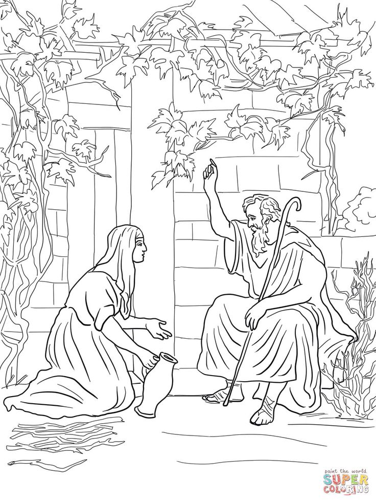 elijah and the widow of zarephath coloring page from prophet elijah category select from 24848 printable crafts of cartoons nature animals bible and