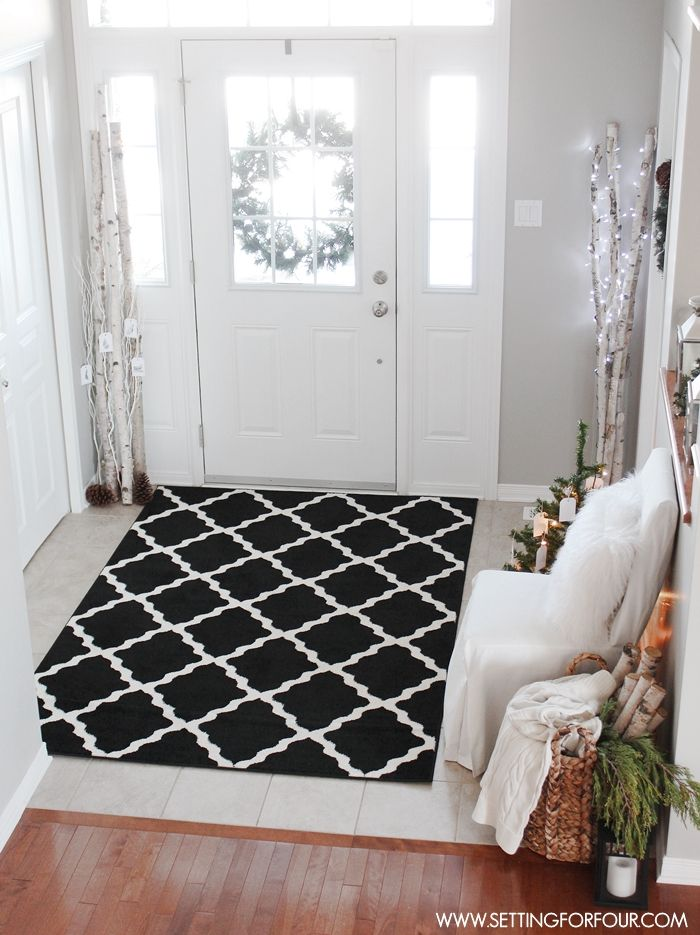 Foyer Rug Winter : Best christmas stic elegance woodland