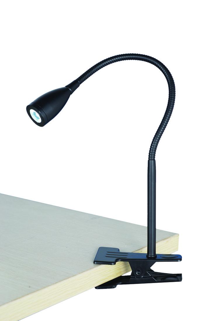 Sassy Clamp Lamp in Black