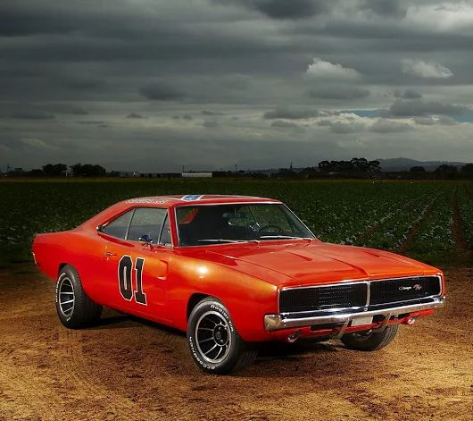 The Dukes of Hazzard 'General Lee', a 1969 Dodge Charger. Some of the movie cars were 1968's, too.