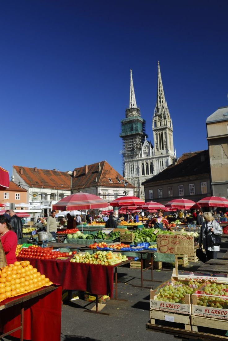 Dolac Market, Zagreb, Croatia. Best time to go is mornings for fresh coffee and bread and entertaining people watching