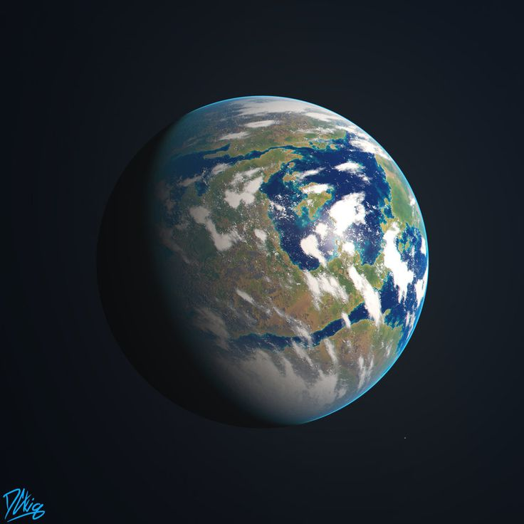 Earth-like Planet by DCkiq.deviantart.com on @DeviantArt