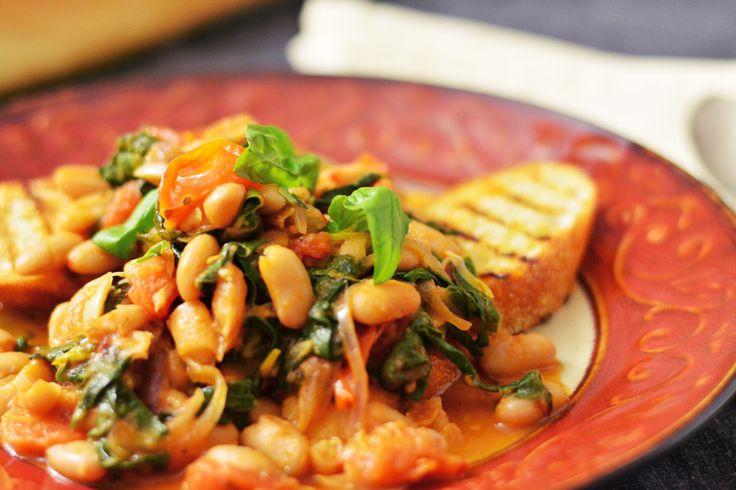 White Bean and Swiss Chard Ragout | Recipe | White Beans, Italian Food ...