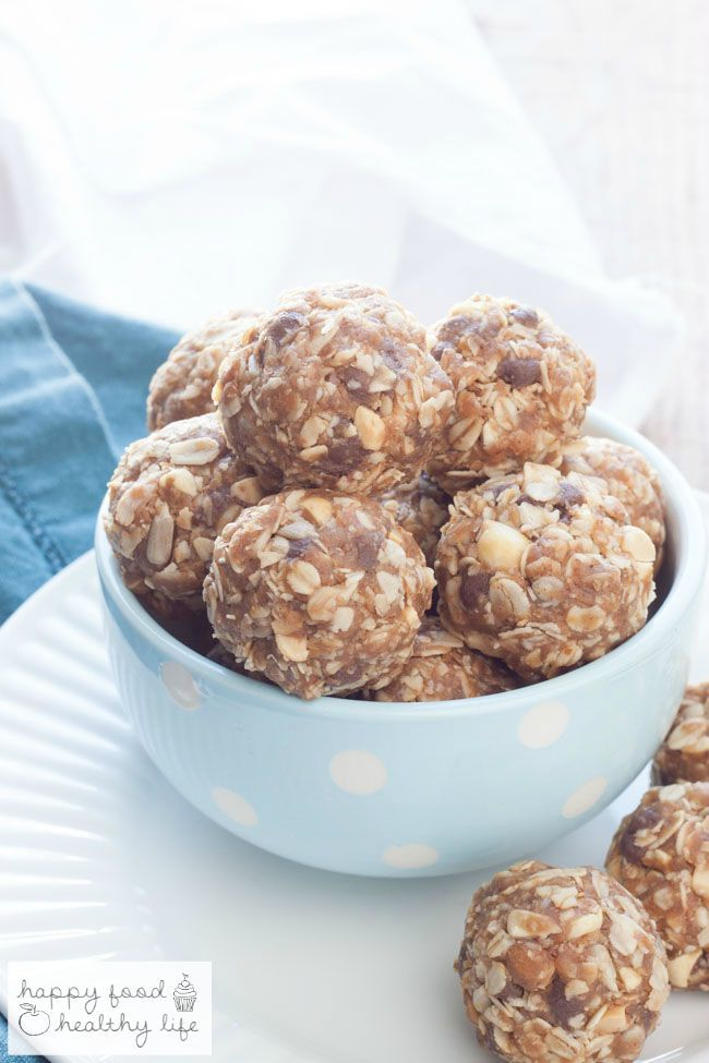 Peanut Butter Chocolate No-Bake Granola Bar Bites | Healthy Ideas for Kids