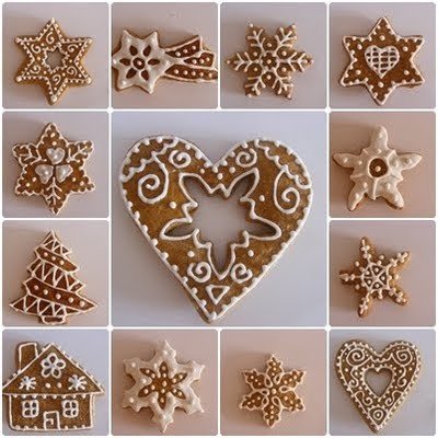 Pretty cookie decorating - the site is not in English but if you scroll to the bottom there are lots of these intricate ideas.