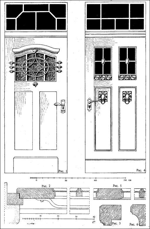 Одностворчатые наружные двери с фрамугами