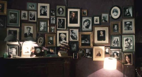 Only Lovers Left Alive -- gallery wall in Adam's house