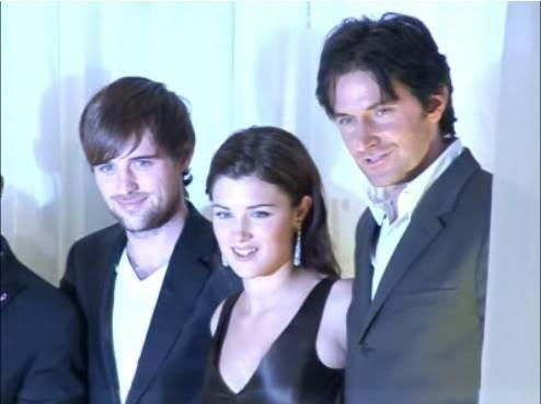 Jonas Armstrong, Lucy Griffiths and Richard Armitage from Robin Hood