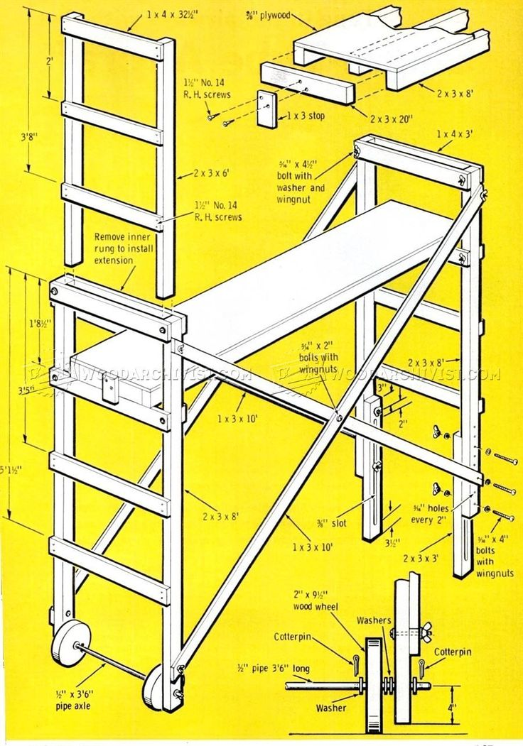 Build Mobile Scaffold - Other Woodworking Plans and Projects | WoodArchivist.com