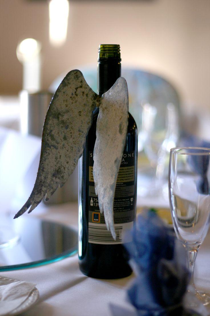 Angel Wing Bottle Decoration On Wedding Tables Art Full