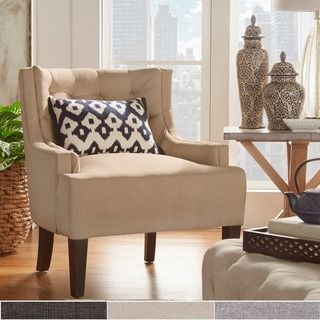 living room store shop for tribecca home tess wingback tufted linen 10996