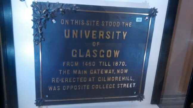Placa Universidade de Glasgow/ UK 01/2017