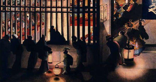 江戸時代後期の代表する浮世絵師といえば、葛飾北斎ですが、その北斎の三女・お栄も実は素晴らしい腕前の持ち主でした。お栄は画号で『葛飾応為(かつしかおうい)』。浮世絵師であり、『おんな北斎』などとと呼ばれるほどでした。 「おうい」という名の由来は北斎が「おーい、おーい」と呼んでいたのでそのまま画号になったのだそうです。 吉原夜景図 12811_02 出典:北斎の娘が想像以上にクールだった 太田記念美術館蔵 闇夜に浮かぶ提灯の明るさ。妖しさと煌びやかさが漂う遊郭。光と影の対比が何とも美しい。この作風から、江戸のレンブラントなどと称され、その才能が北斎以上ではないかと見直されはじめたとか。