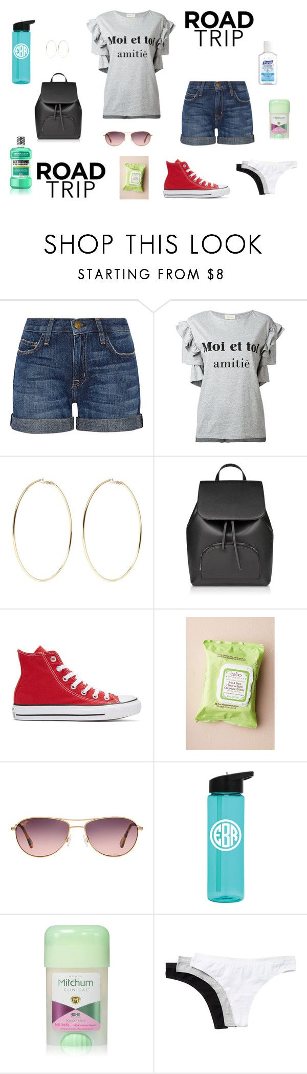 """""""Road Trip"""" by edith-a-giles ❤ liked on Polyvore featuring Current/Elliott, Steve J & Yoni P, Kenneth Jay Lane, Converse, Babo Botanicals, Maui Jim, Mitchum and Columbia"""