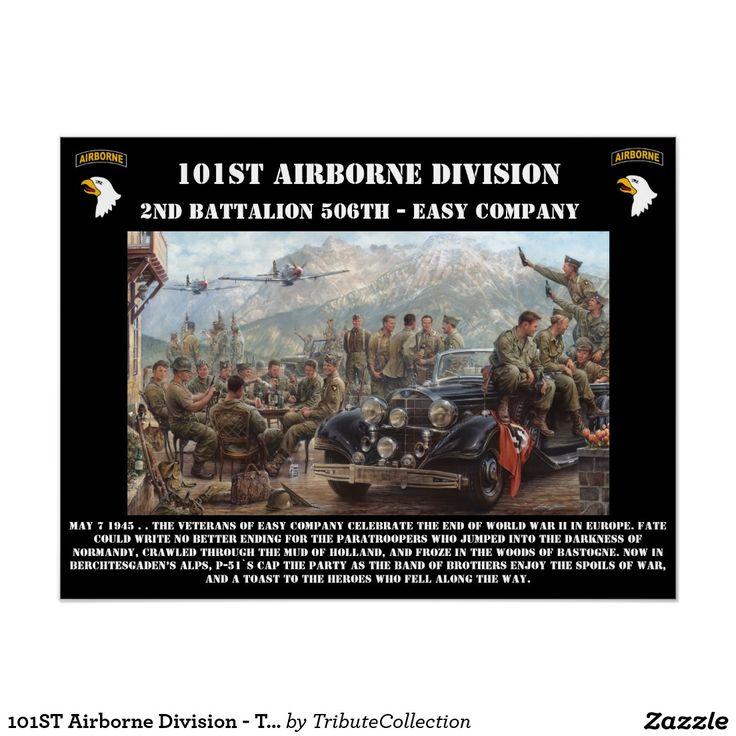 101ST Division Aéroportée - prenant à Eagles le Posters