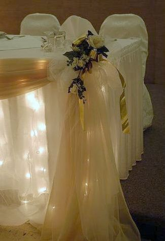 tulle and lights wedding decor wedding table our table could be the only one with 8097