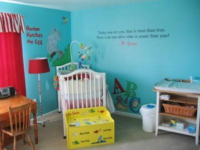 Decided on a Dr. Seuss themed nursey