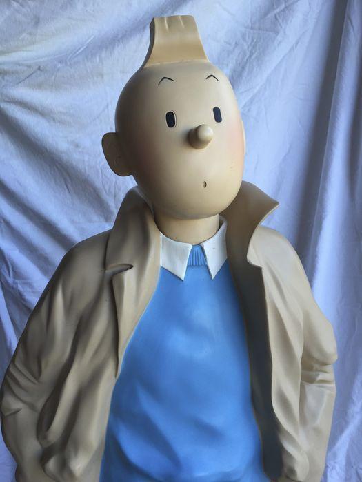 Hergé - Statue Leblon-Delienne 65 - Tintin imperméable (130 cm.) - 1995