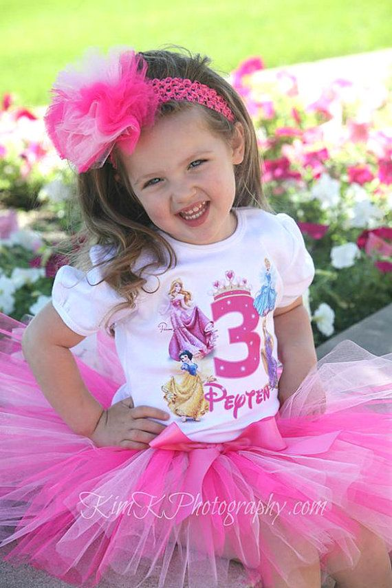 Traje de cumpleaños de princesa de Disney por BabyBirthdayTee