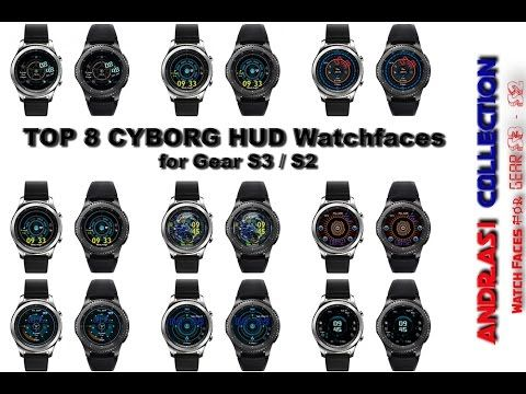 Top 8 Best CYBORG HUD Watchfaces for Gear S3 / S2 - Andrasi.ro