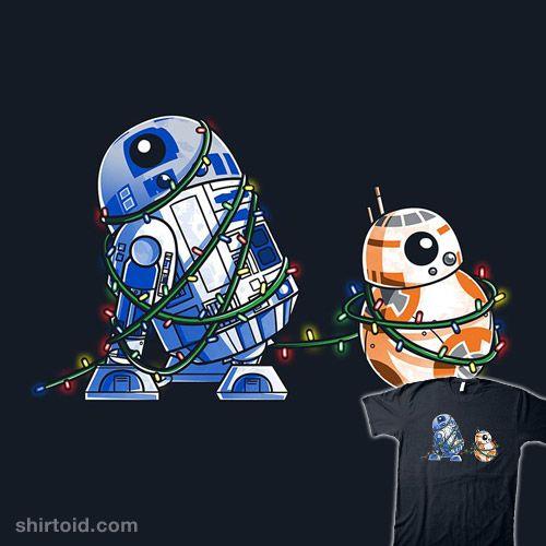 happy holidroids bb8 christmas christmaslights droid film movie r2d2 - R2d2 Christmas Lights