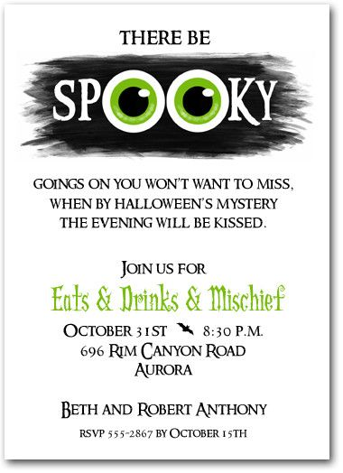 97 best Halloween Invitations images on Pinterest Halloween - office bridal shower invitation wording