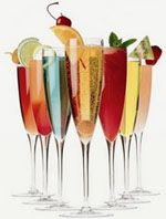 50 champagne cocktails via Whidbey Party Girls.