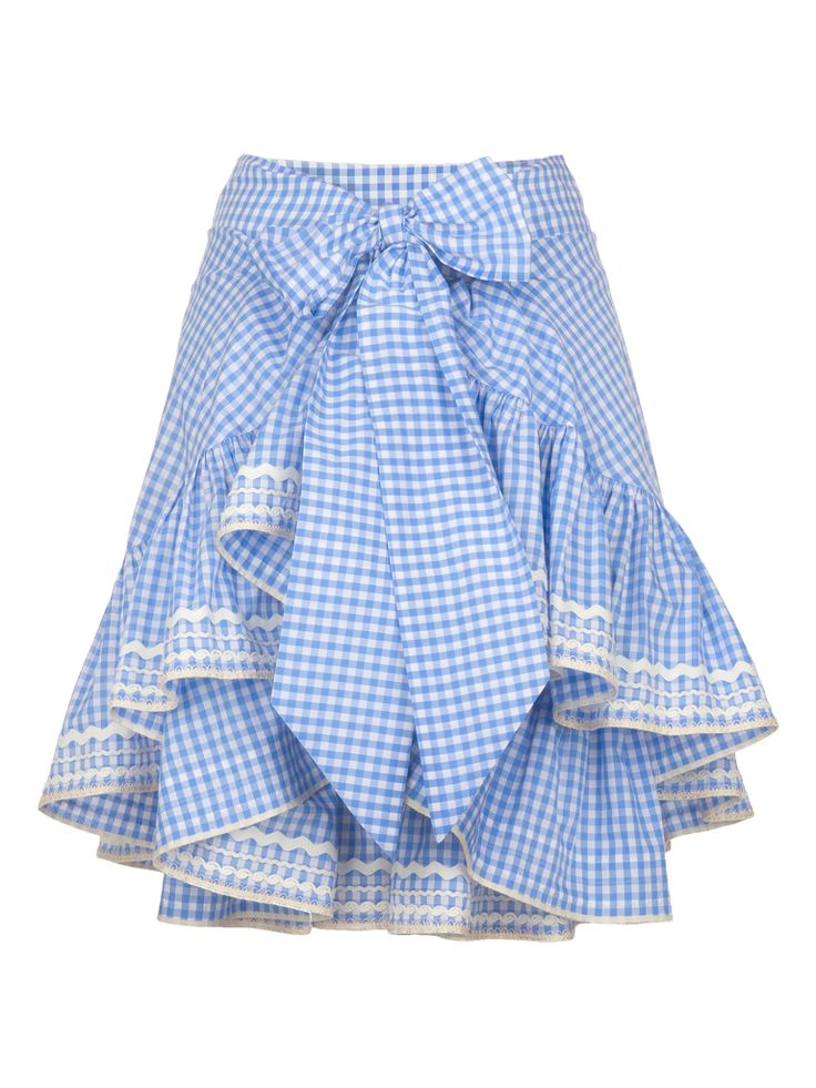 *: Ruffles Skirts, Spring Aprons, Spring Summer, Aprons Shops, Beautiful Skirts, Gingham Skirts, Blue Gingham, Country Aprons, Gingham Aprons