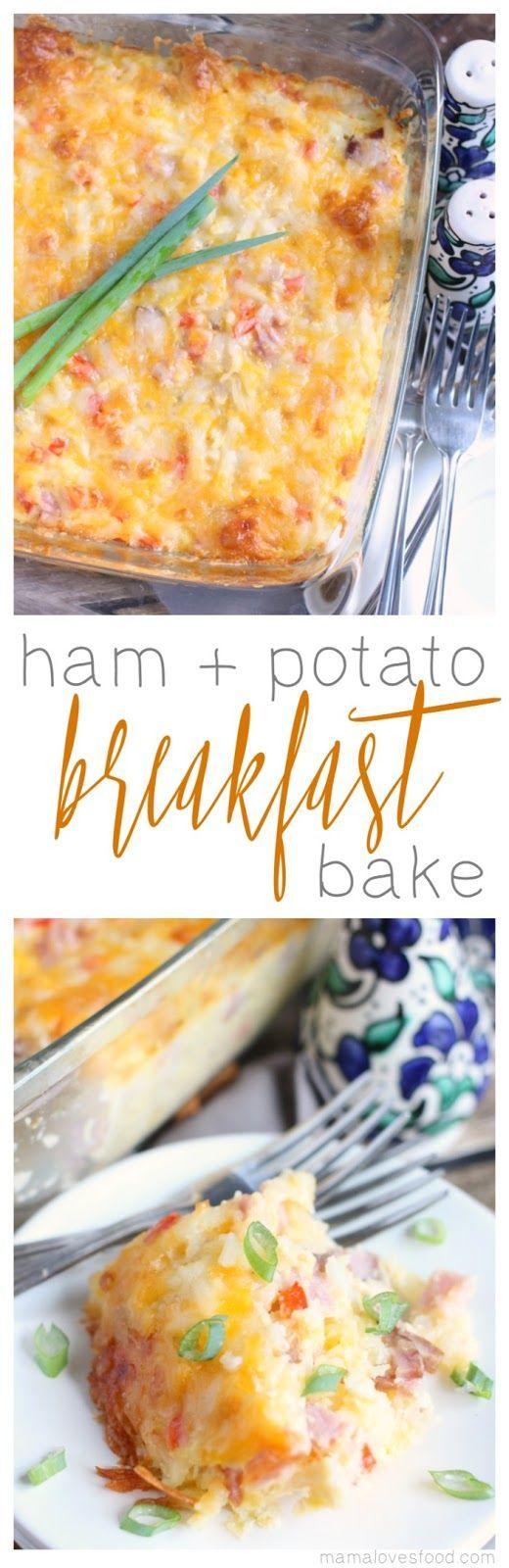 Breakfast Casserole Ham and Potato Breakfast Bake Recipe