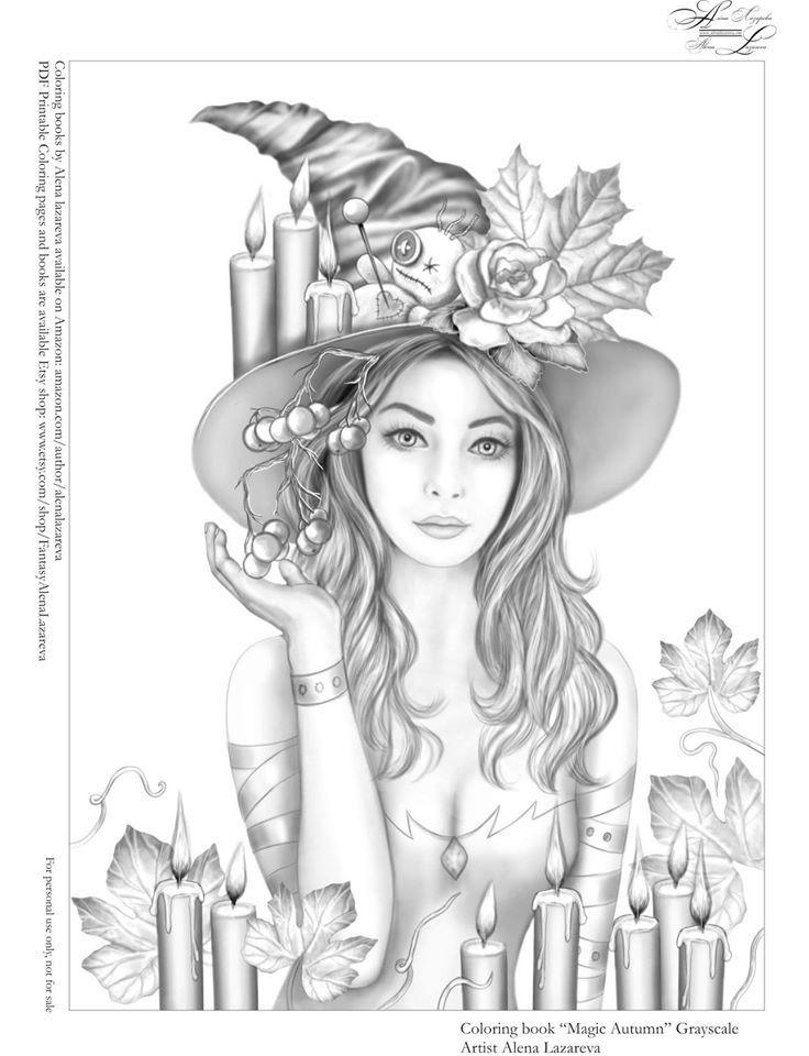 Pin By Esmeralda De Waard On Color In 2020 Grayscale Coloring Coloring Pictures Halloween Art