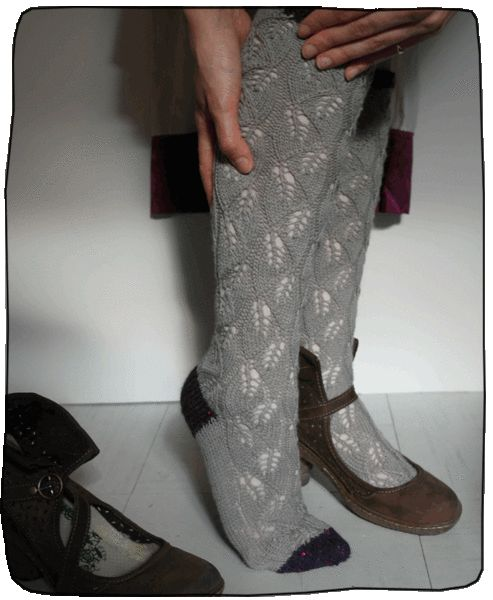 Lace socks.