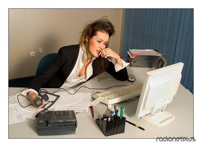 Смешная картинка девушка на работе