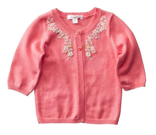 beautiful rose knitted cardigan @Purebaby