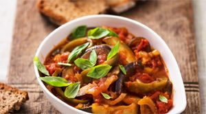 The Fast Diet Recipe Book: Ratatouille With Rye Bread Toast