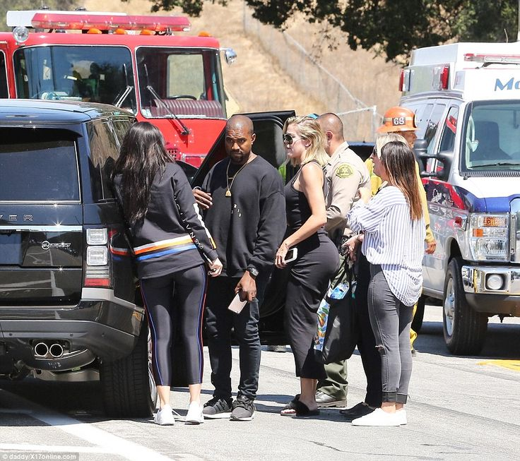 Support system: Kylie Jenner, Kanye West and Khloe Kardashian were quick to arrive on the ...