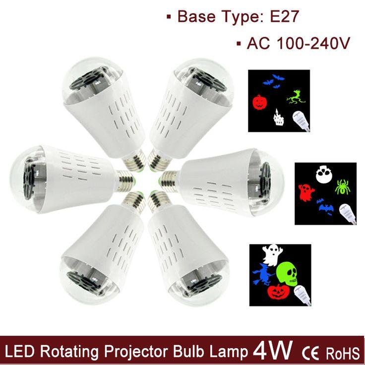 Cheap e27 rgb led lamp, Buy Quality e27 base light bulb directly from China e27 spot Suppliers:  Halloween New E27 LED Rotating Projector Bulb Lamp, Pumpkin Ghost Skull Pattern AC 100-240V 4W RGBW Light      Ne