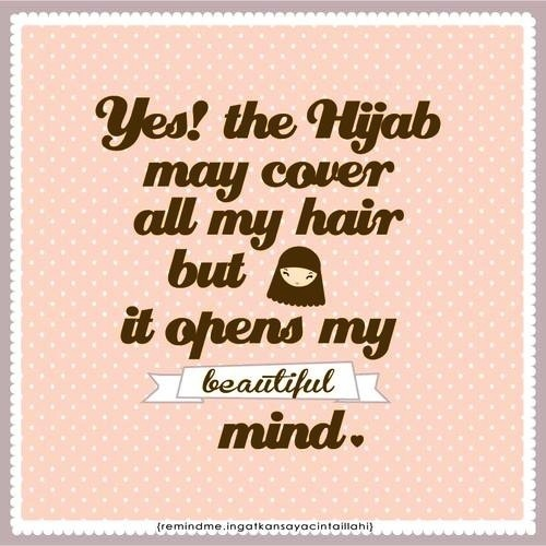 Am wearing hijab, but need to be more modest. Self-reminder