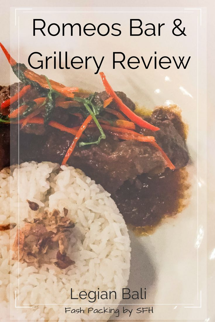 Our experience at Romeo's in Legian Bali was a bit hit and miss. Read my full review before you dine.
