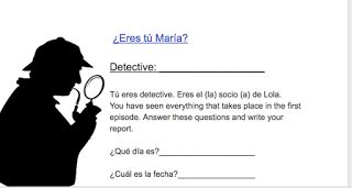 Scaffolded Detective Activity for Spanish 1- video and questions
